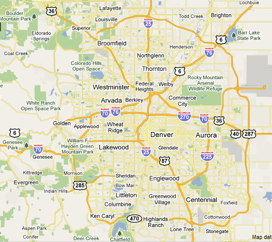 Aerial Photography Map Of Highlands Ranch Co Colorado: Denver Contractors And Home Improvement Providers At 24-7